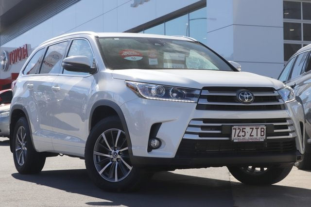 Pre-Owned Toyota Kluger GSU50R GXL 2WD Woolloongabba, 2019 Toyota Kluger GSU50R GXL 2WD Crystal Pearl 8 Speed Sports Automatic Wagon