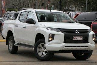 2021 Mitsubishi Triton MR MY21 GLX+ Double Cab White 6 Speed Sports Automatic Utility.