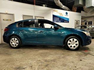 2012 Holden Cruze JH Series II MY12 CD Metallic Blue 6 Speed Sports Automatic Hatchback.