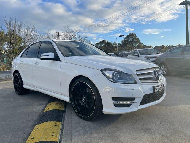 Used Mercedes-Benz C200 W204 MY14 Glendale, 2014 Mercedes-Benz C200 W204 MY14 White 7 Speed Automatic G-Tronic Sedan