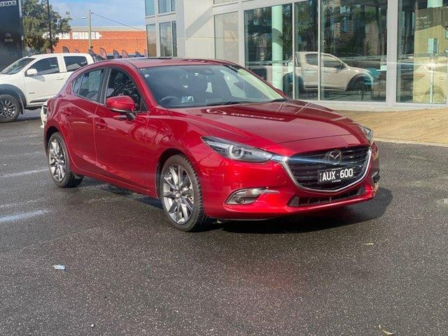 Used Mazda 3 BN5436 SP25 SKYACTIV-MT Astina South Melbourne, 2018 Mazda 3 BN5436 SP25 SKYACTIV-MT Astina Soul Red Crystal 6 Speed Manual Hatchback