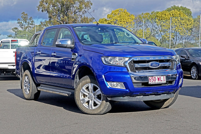 Used Ford Ranger PX MkII XLT Double Cab Ebbw Vale, 2016 Ford Ranger PX MkII XLT Double Cab Blue 6 Speed Sports Automatic Utility