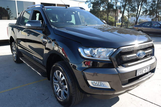 Used Ford Ranger PX MkII Wildtrak Double Cab Maryville, 2017 Ford Ranger PX MkII Wildtrak Double Cab Black 6 Speed Manual Utility