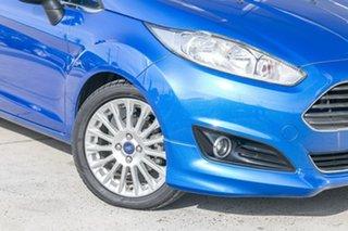 2015 Ford Fiesta WZ MY15 Sport Blue 5 Speed Manual Hatchback.