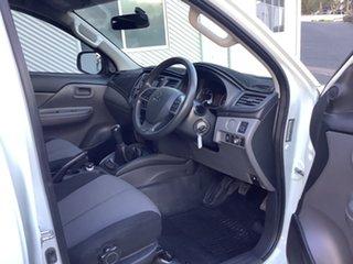 2017 Mitsubishi Triton MQ MY18 GLX Double Cab White 6 Speed Manual Utility