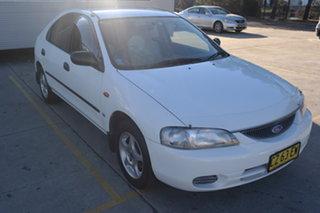 1997 Ford Laser KJ III (KM) GLXi White 5 Speed Manual Hatchback.