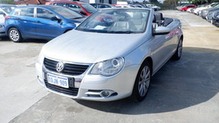 2010 Volkswagen EOS 1F MY09 147TSI DSG Silver 6 Speed Sports Automatic Dual Clutch Convertible.