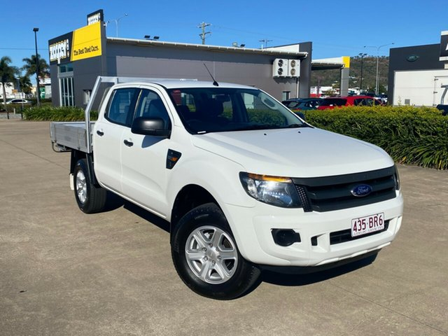 Used Ford Ranger PX XL Townsville, 2014 Ford Ranger PX XL White/140614 6 Speed Sports Automatic Cab Chassis