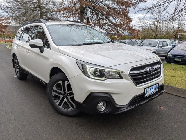Used Subaru Outback B6A MY18 2.0D CVT AWD Launceston, 2018 Subaru Outback B6A MY18 2.0D CVT AWD Crystal White Pearl 7 Speed Constant Variable Wagon