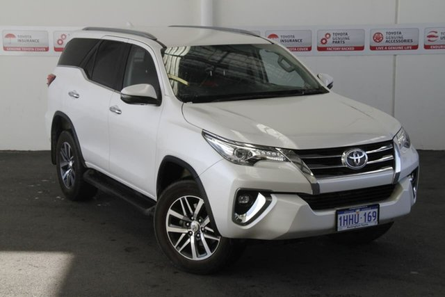 Pre-Owned Toyota Fortuner GUN156R Crusade B+R Trim Rockingham, 2019 Toyota Fortuner GUN156R Crusade B+R Trim Crystal Pearl 6 Speed Electronic Automatic Wagon