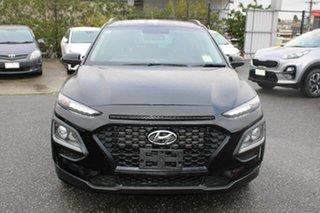 2018 Hyundai Kona OS MY18 Active 2WD Black/Grey 6 Speed Sports Automatic Wagon.