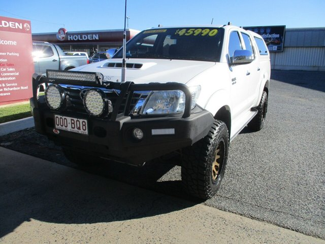 Used Toyota Hilux KUN26R MY14 SR Double Cab North Rockhampton, 2015 Toyota Hilux KUN26R MY14 SR Double Cab White 5 Speed Manual Utility