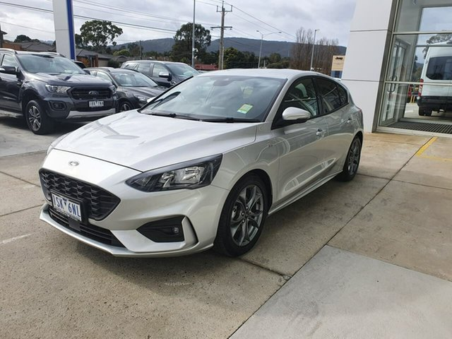 Used Ford Focus SA 2019.75MY ST-Line Ferntree Gully, 2019 Ford Focus SA 2019.75MY ST-Line Silver 8 Speed Automatic Hatchback