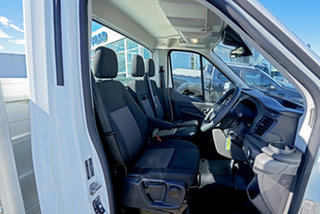 2020 Ford Transit 470E White 6 Speed Manual Single Cab Cab Chassis