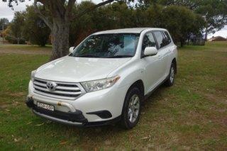 2012 Toyota Kluger GSU40R MY12 KX-R 2WD White 5 Speed Sports Automatic Wagon.