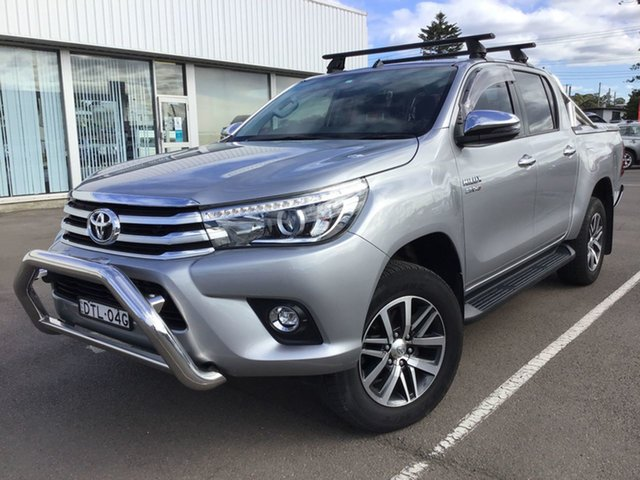 Pre-Owned Toyota Hilux GUN126R SR5 Double Cab Cardiff, 2017 Toyota Hilux GUN126R SR5 Double Cab Silver Sky 6 Speed Sports Automatic Utility