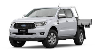 2021 Ford Ranger PX MkIII XLT Double Cab Chassis Arctic White 6 Speed Automatic Pick Up