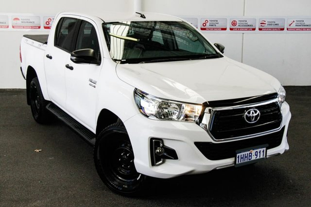 Pre-Owned Toyota Hilux GUN126R SR Double Cab Myaree, 2018 Toyota Hilux GUN126R SR Double Cab Glacier White 6 Speed Sports Automatic Cab Chassis