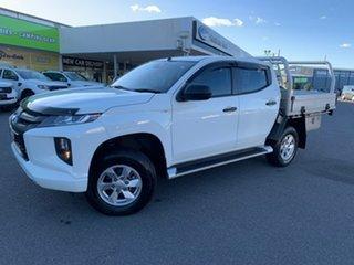 2019 Mitsubishi Triton GLX+ White Sports Automatic Dual Cab Utility.