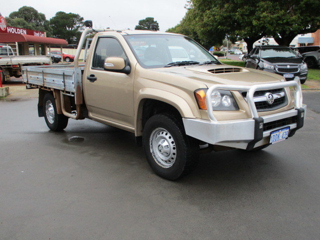 Used Holden Colorado RC LX Katanning, 2008 Holden Colorado RC LX Gold 5 Speed Manual Single Cab