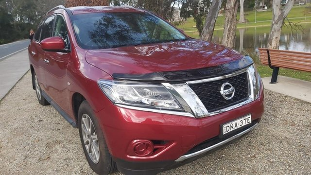 Used Nissan Pathfinder R52 MY16 ST X-tronic 4WD Wodonga, 2016 Nissan Pathfinder R52 MY16 ST X-tronic 4WD Red 1 Speed Constant Variable Wagon