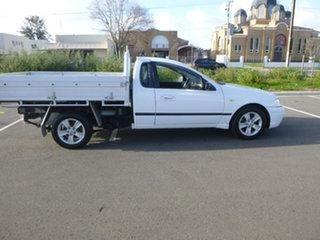 2004 Ford Falcon BA Mk II XLS White Sports Automatic Cab Chassis.