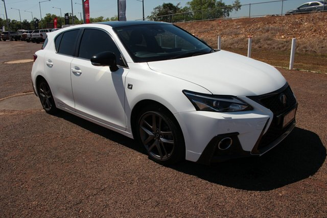 Pre-Owned Lexus CT ZWA10R MY16 CT200h F Sport Darwin, 2017 Lexus CT ZWA10R MY16 CT200h F Sport White Nova 1 Speed Constant Variable Hatchback Hybrid