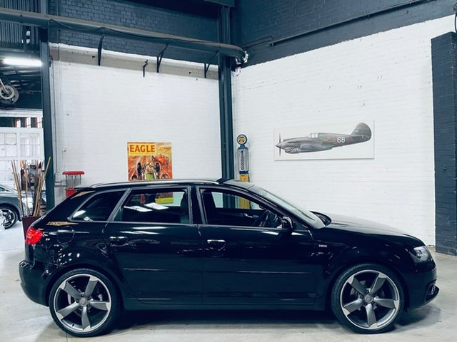 Used Audi A3 8P MY13 Ambition Sportback S Tronic Port Melbourne, 2012 Audi A3 8P MY13 Ambition Sportback S Tronic Black 6 Speed Sports Automatic Dual Clutch