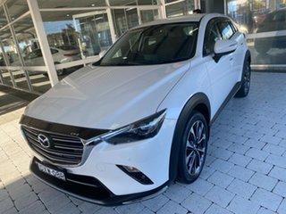 2018 Mazda CX-3 STOURING Snowflake White Pearl Sports Automatic Wagon.