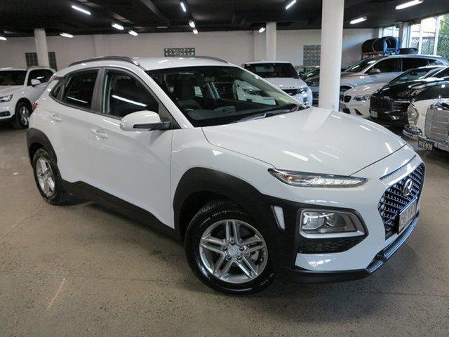 Used Hyundai Kona OS.2 MY19 Active 2WD Albion, 2019 Hyundai Kona OS.2 MY19 Active 2WD White 6 Speed Sports Automatic Wagon