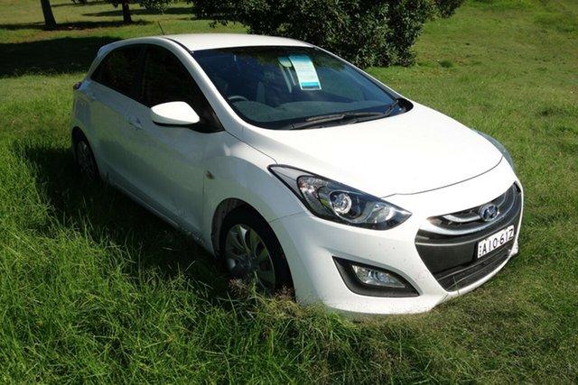 Used Hyundai i30 GD Active East Maitland, 2013 Hyundai i30 GD Active White 6 Speed Sports Automatic Hatchback