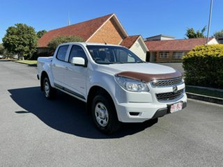 2013 Holden Colorado RG LX White 6 Speed Automatic Dual Cab.