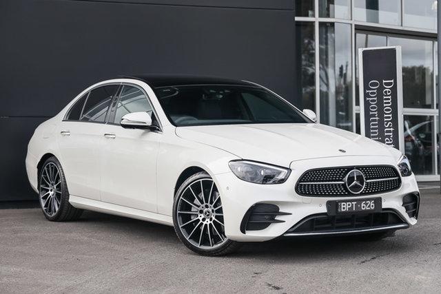 Demonstrator Mercedes-Benz E-Class W213 801+051MY E350 9G-Tronic Mulgrave, 2021 Mercedes-Benz E-Class W213 801+051MY E350 9G-Tronic Designo Diamond White 9 Speed