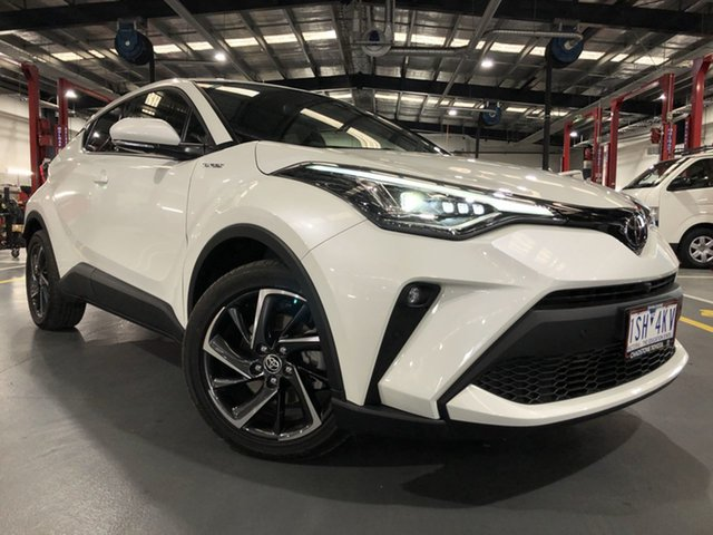Pre-Owned Toyota C-HR NGX50R Koba S-CVT AWD Oakleigh, 2019 Toyota C-HR NGX50R Koba S-CVT AWD Crystal Pearl 7 Speed Constant Variable Wagon