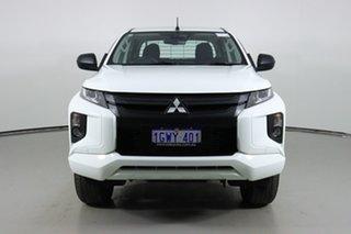 2018 Mitsubishi Triton MR MY19 GLX ADAS (4x4) White 6 Speed Automatic Double Cab Pick Up.
