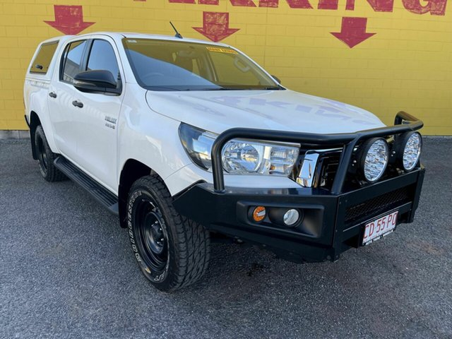 Used Toyota Hilux GUN126R SR Double Cab Winnellie, 2019 Toyota Hilux GUN126R SR Double Cab White 6 Speed Sports Automatic Cab Chassis