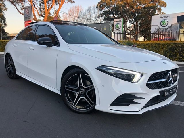 Used Mercedes-Benz A-Class V177 800MY A200 DCT Botany, 2019 Mercedes-Benz A-Class V177 800MY A200 DCT White 7 Speed Sports Automatic Dual Clutch Sedan