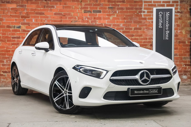 Certified Pre-Owned Mercedes-Benz A-Class W177 801+051MY A180 DCT Mulgrave, 2021 Mercedes-Benz A-Class W177 801+051MY A180 DCT Polar White 7 Speed Sports Automatic Dual Clutch