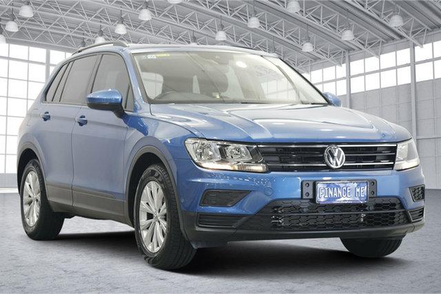 Used Volkswagen Tiguan 5N MY17 110TSI DSG 2WD Trendline Victoria Park, 2017 Volkswagen Tiguan 5N MY17 110TSI DSG 2WD Trendline Caribbean Blue 6 Speed