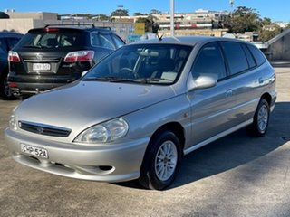 2000 Kia Rio LS Silver 5 Speed Manual Hatchback.