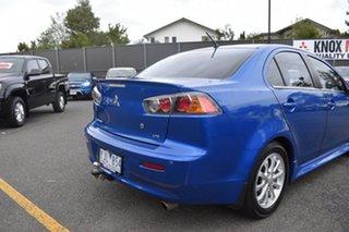 2010 Mitsubishi Lancer CJ MY11 VR Blue 6 Speed Constant Variable Sedan