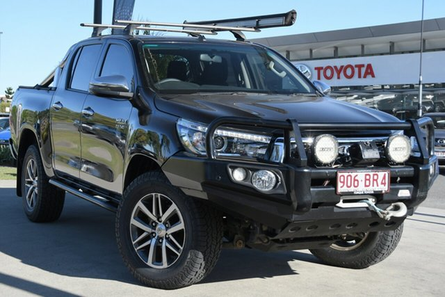 Pre-Owned Toyota Hilux GUN126R SR5 Double Cab North Lakes, 2018 Toyota Hilux GUN126R SR5 Double Cab Eclipse Black 6 Speed Sports Automatic Utility