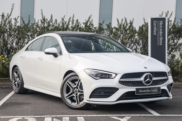 Certified Pre-Owned Mercedes-Benz CLA-Class C118 800+050MY CLA200 DCT Mulgrave, 2020 Mercedes-Benz CLA-Class C118 800+050MY CLA200 DCT Polar White 7 Speed