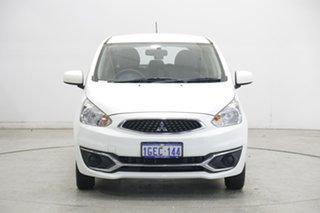 2016 Mitsubishi Mirage LA MY15 ES White 1 Speed Constant Variable Hatchback.