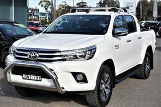 2017 Toyota Hilux GUN126R SR5 Double Cab White 6 Speed Sports Automatic Utility