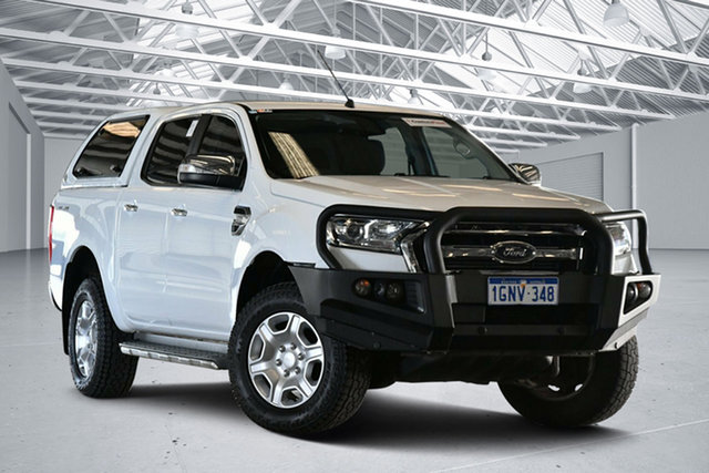 Used Ford Ranger PX MkII MY18 XLT 3.2 (4x4) Perth Airport, 2018 Ford Ranger PX MkII MY18 XLT 3.2 (4x4) Cool White 6 Speed Automatic Double Cab Pick Up