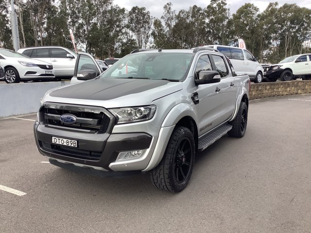 Used Ford Ranger PX MkII Wildtrak Double Cab Maitland, 2017 Ford Ranger PX MkII Wildtrak Double Cab Silver 6 Speed Sports Automatic Utility