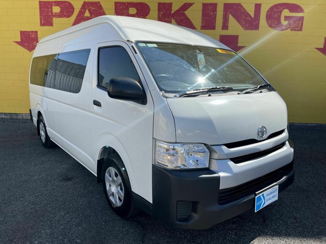 Used Toyota HiAce KDH223R Commuter High Roof Super LWB Winnellie, 2016 Toyota HiAce KDH223R Commuter High Roof Super LWB White 4 Speed Automatic Bus