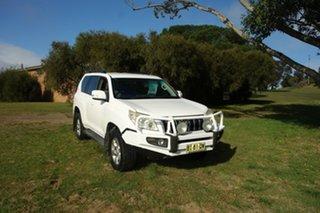 2010 Toyota Landcruiser Prado GRJ150R GXL White 5 Speed Sports Automatic Wagon.
