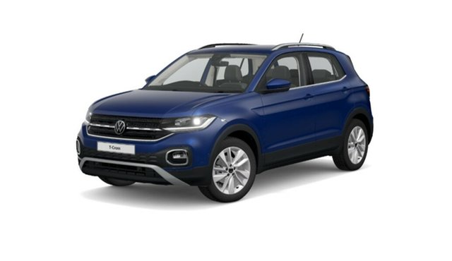 New Volkswagen T-Cross C1 MY21 85TSI DSG FWD Style Port Melbourne, 2021 Volkswagen T-Cross C1 MY21 85TSI DSG FWD Style Blue 7 Speed Sports Automatic Dual Clutch Wagon